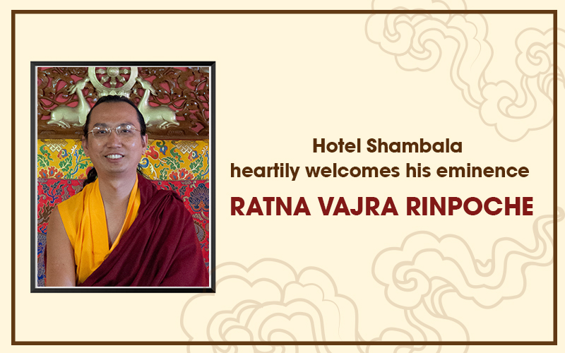 Heartily welcomes his eminence  Ratna Vajra Rinpoche.