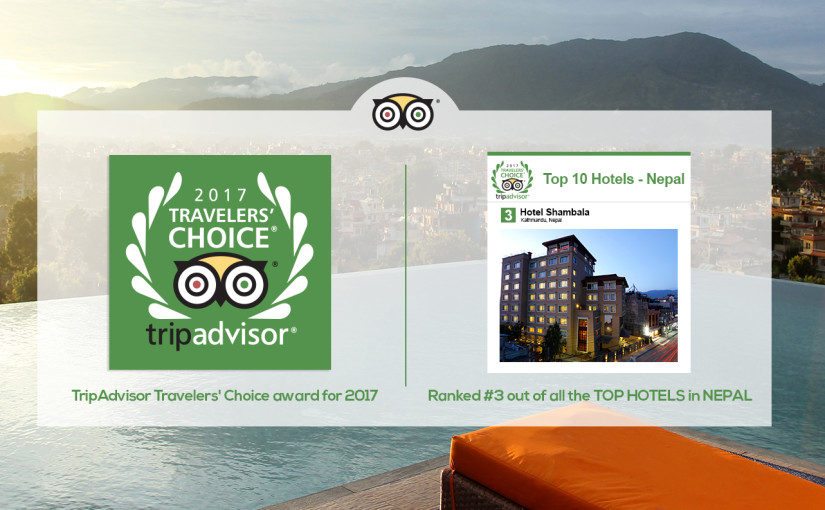 TripAdvisor Travelers' Choice award for 2017